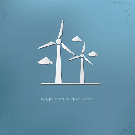wind turbines: Wind turbine symbol,vector