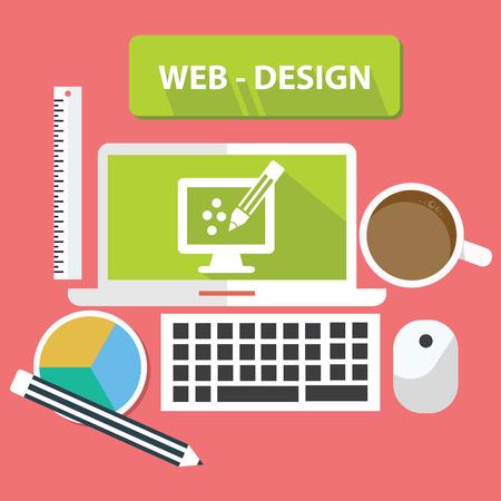 Web design concept,vector Vector