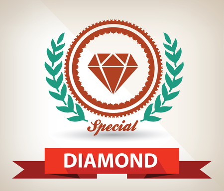 Diamond badge,vector Vector