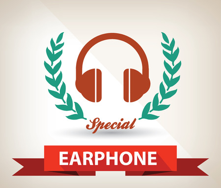Earphone symbol,vector Vector