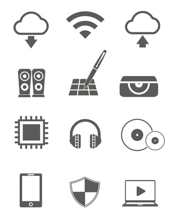 Technology icons,vector Vector