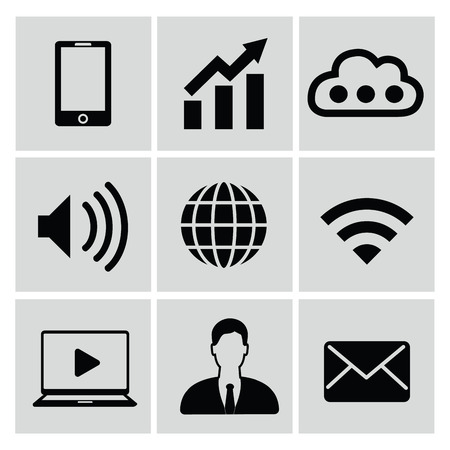 ions: Web media icons,vector