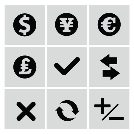 ions: Finance icons,vector Illustration