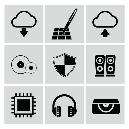 Web media icons,vector Vector