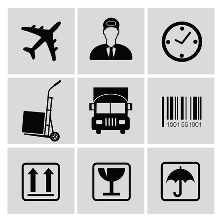 overnight delivery: Logistics icons,vector