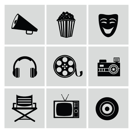 movie reel: Movie icons,vector Illustration