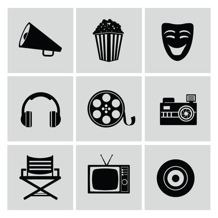 movie reel: Movie icons,vector Illustration