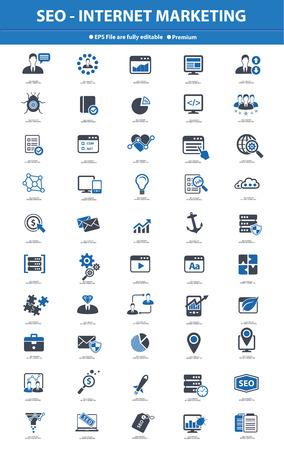 SEO Internet Marketing, Blue version,vector
