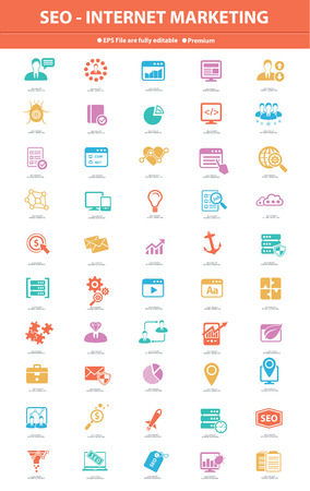 SEO Internet Marketing, Colorful version