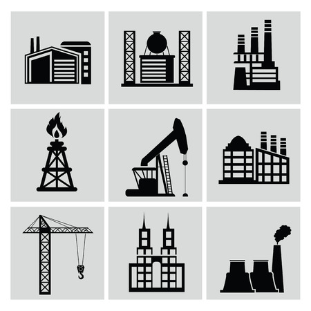 Factory icon vector Vector