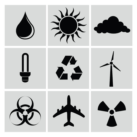 Ecology icons,vector Vector
