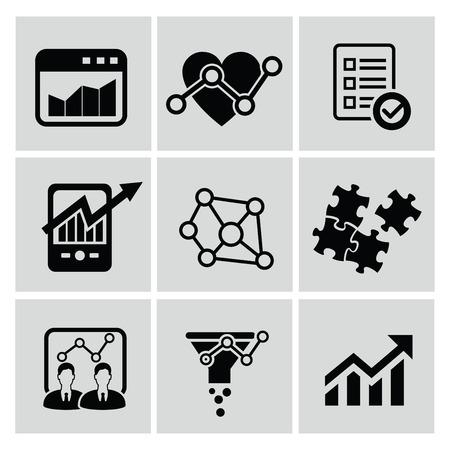 stockmarket chart: Analysis icons,vector