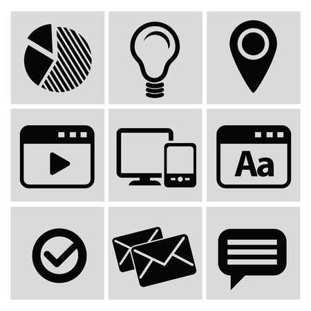 Web and social icons,vector Vector
