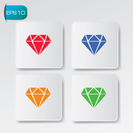 Diamond symbol,vector Vector