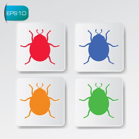 sic: Bug,Virus symbol,vector