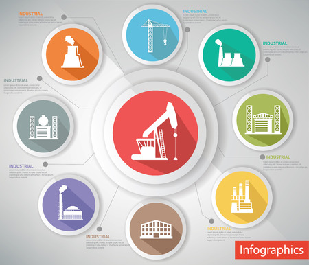 Concepto Industrial, Infografía s, Versión colorida