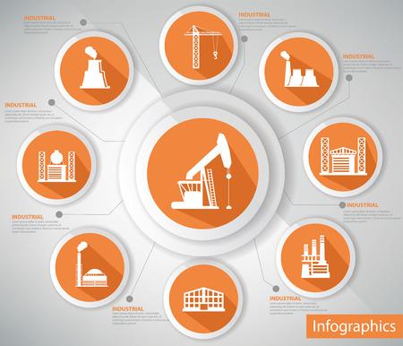 gas plant: Industrial Concept illustration  Illustration