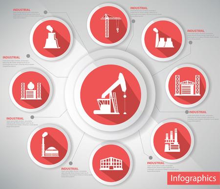 mineral oil: Industrial Concept illustration  Illustration