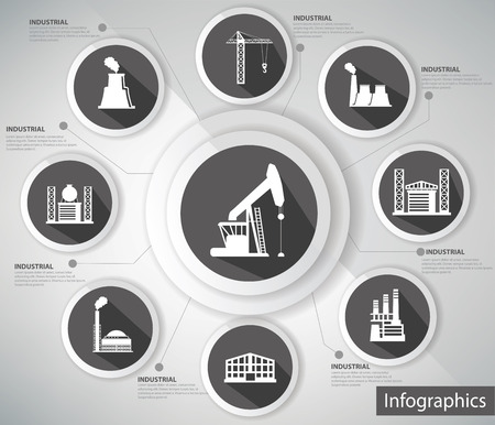 Industrial Concept,Infographic s,black version Vector