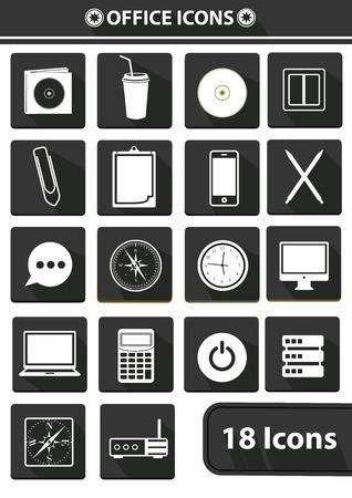 Office icons Illustration