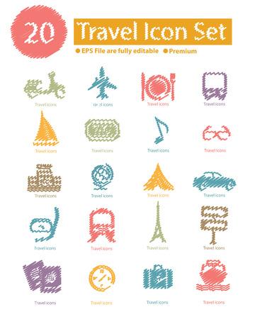 travel icon: Reizen icon set, vector