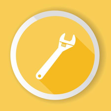 screw key: Repair button illustration