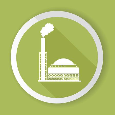 heavy industry: Heavy Industry,Green button,vector Illustration