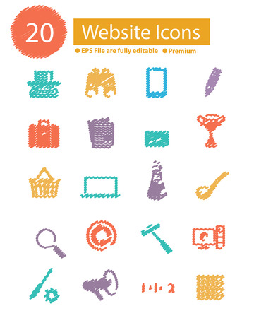 Web icons,vector Vector