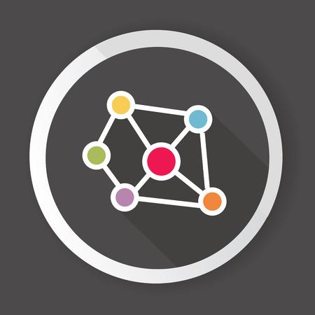 Connection,Black button,vector Stock Vector - 26704386