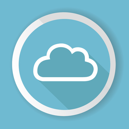 Cloud button,vector Vector