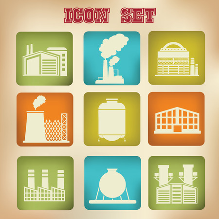Factory icons,vector Vector
