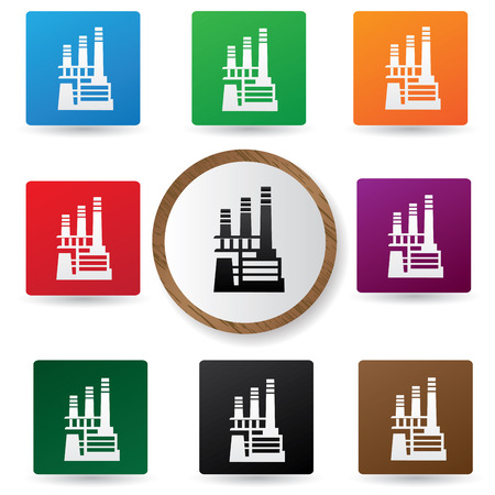 Factory,Industry buttons Vector