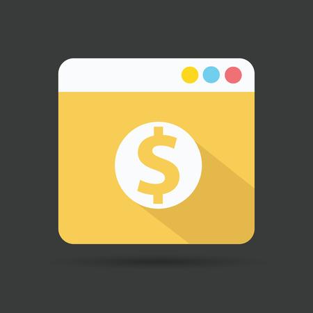 peel off: Dollar symbol