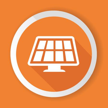 Solar Energy symbol,Orange version Illustration