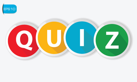 Quiz buttons on white background,vector Vector