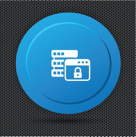 Lock database button,vector Vector