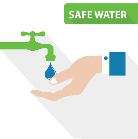 safe water: Safe water concept,vector
