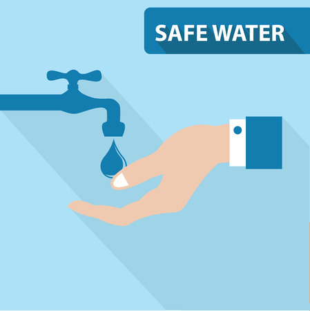 water concept: Safe water concept,vector