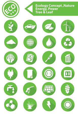 Ecology,Nature,Energy Icons,Green version Vector
