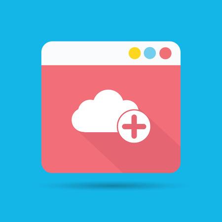 Cloud computing symbol,vector Vector