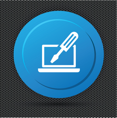 tooling: Repair laptop button,vector