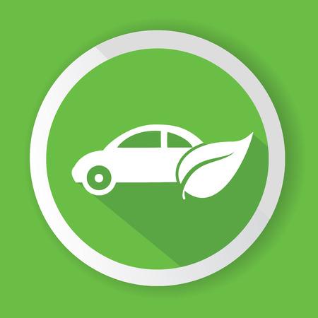 Eco simbolo auto, vettore Vettoriali