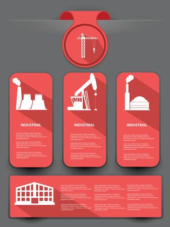 dockyard: Industrial banner for text,vector Illustration