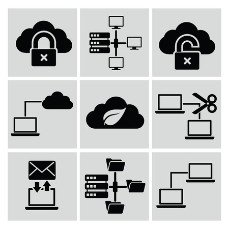 Networking   Connection icons,vector Vector