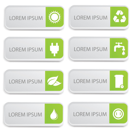 energy conservation: Ecology banners on white background,vector Illustration
