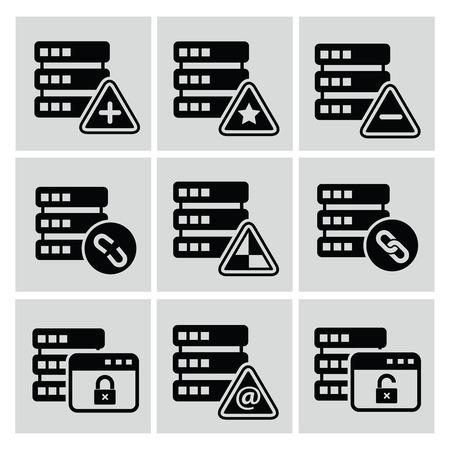 sql: Database icons,vector Illustration