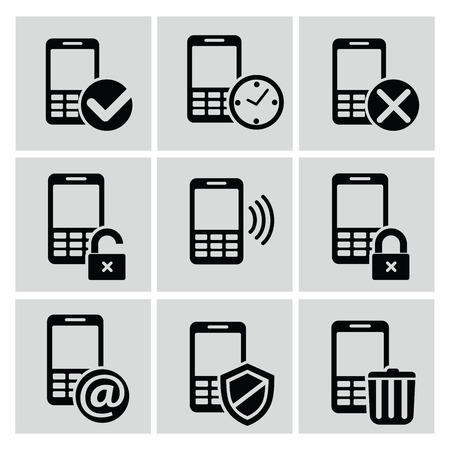 mobile icons: Mobile icons,vector