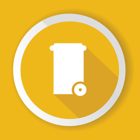 Bin symbol,Yellow version,vector Vector