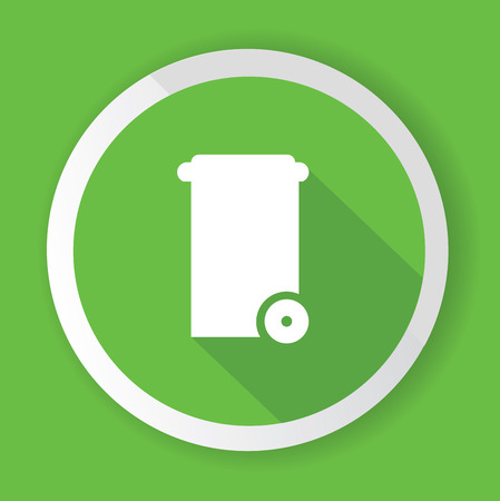 Bin symbol,Green version,vector Vector