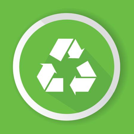 recycle symbol vector: Recycle symbol,vector